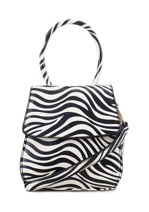 Zebra Small Clutch