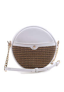 Kaari Blue™ Mali Basketweave Circle Crossbody