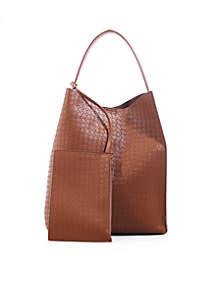 Patrice Woven Hobo Bag