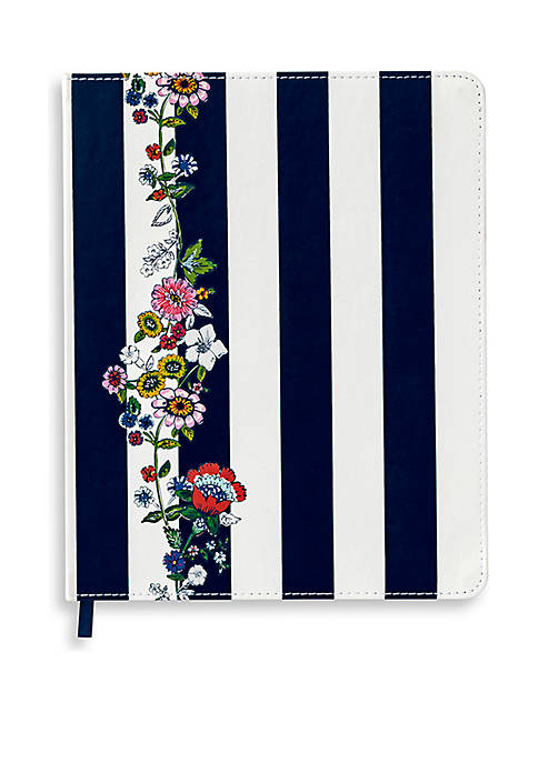 Vera Bradley Midnight Floral Stripe Journal