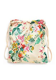 Got Your Back Drawstring Backpack, Paradiso