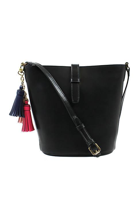 Lexie Leather Bucket Crossbody