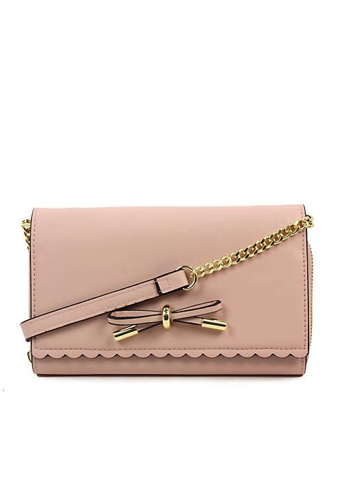 Crown & Ivy™ Josie Scallop Crossbody Wallet