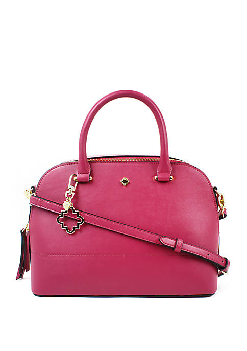Crown & Ivy™ Darci Dome Satchel with Fob