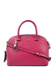 Darci Dome Satchel with Fob