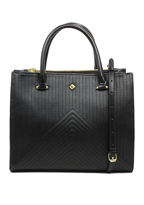 Crown & Ivy™ Large Darci Quilted Satchel