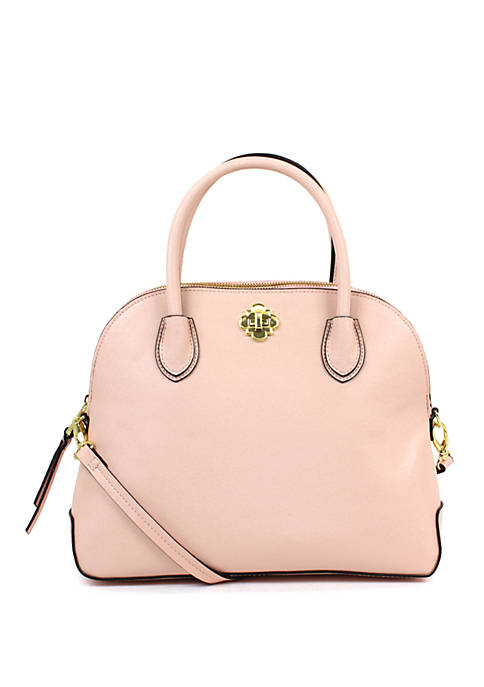 Crown & Ivy™ Charlotte Dome Satchel