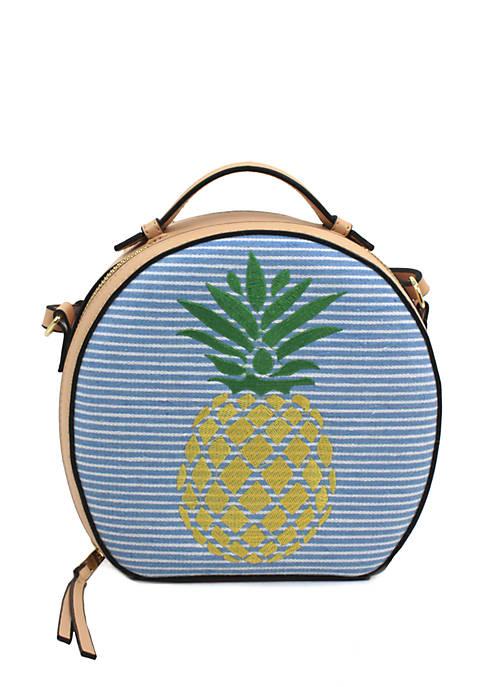 Crown & Ivy™ Penelope Circle Pineapple Crossbody