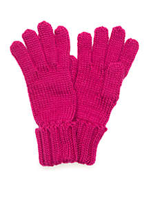 Sold Knit Cuff Gloves