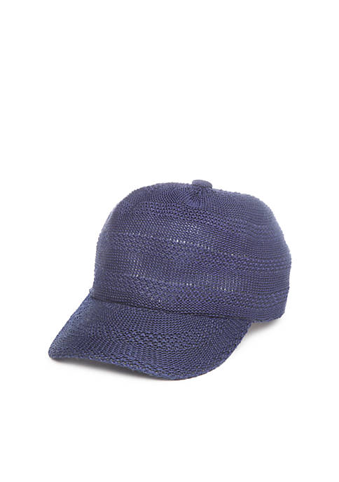 Crown & Ivy™ Multi-Textured Packable Baseball Hat