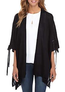 Open Shoulder Knit Kimono