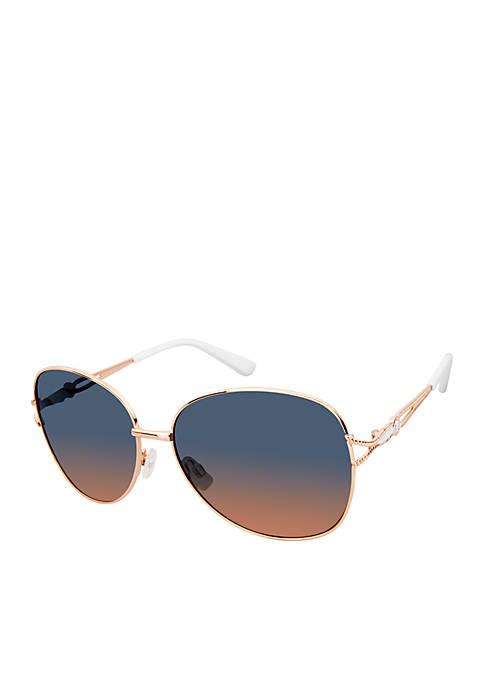 Kaari Blue™ Oval Metal Glam Sunglasses