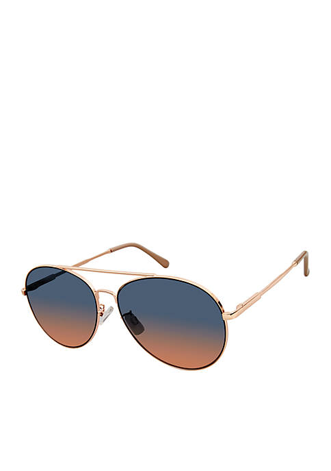 Kaari Blue™ Metal Browbar Aviator Sunglasses