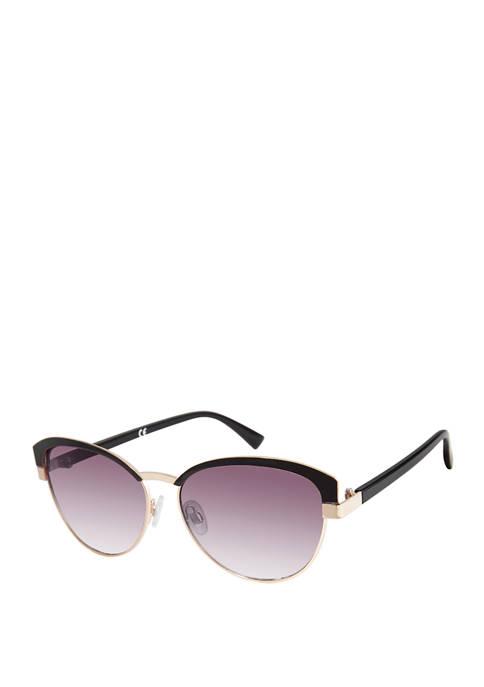 New Directions® Retro Frame Sunglasses