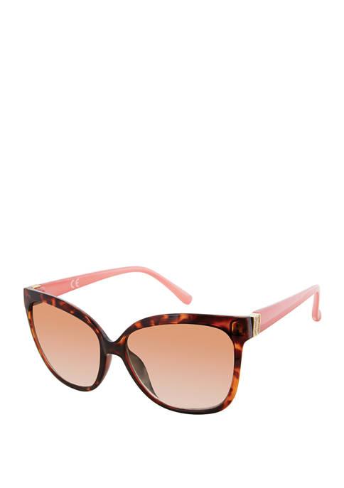 New Directions® Cat Eye Rhinestone Detail Sunglasses