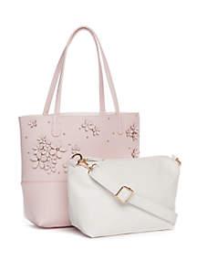 Kaari Blue™ Reversible 3D Floral Shopper and Plain Crossbody