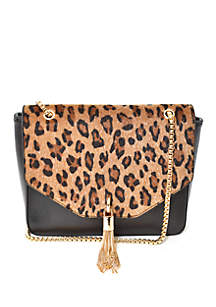 Leopard Flap Crossbody