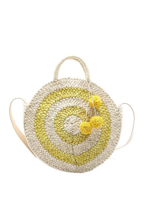 Crown & Ivy™ Large Straw Circle Crossbody Bag