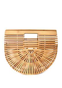 Kaari Blue™ Wooden Crescent Clutch Bag