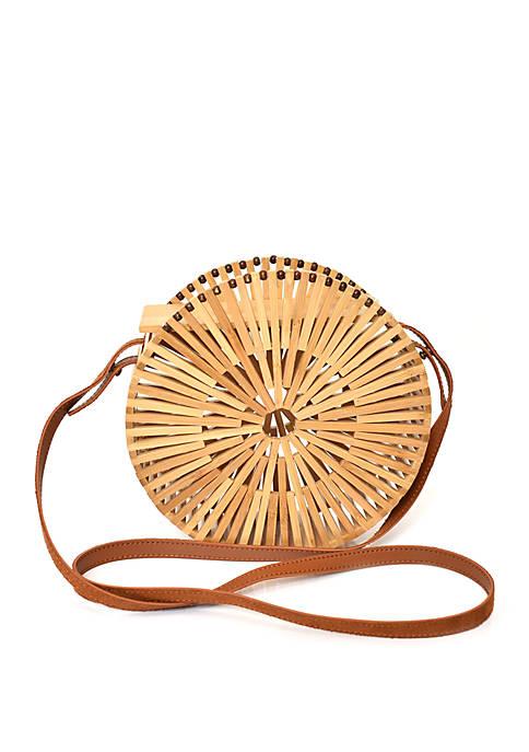 Kaari Blue™ Wooden Circle Bag