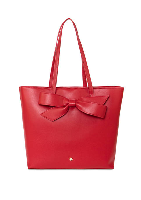 Crown & Ivy™ Lisa Bow Red Shopper