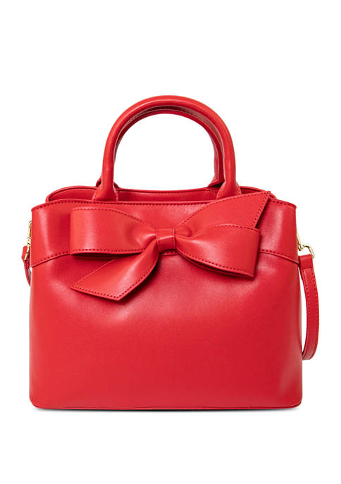Jackie Bow Red Satchel