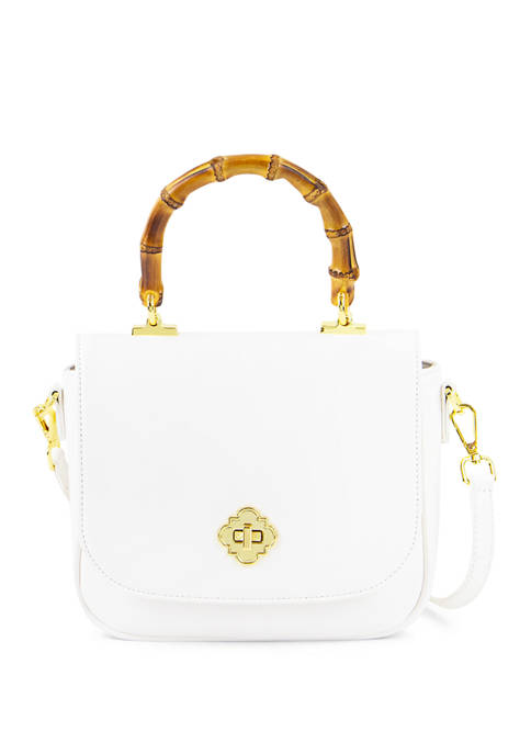 Crown & Ivy™ Camille Bamboo Top Handle Satchel