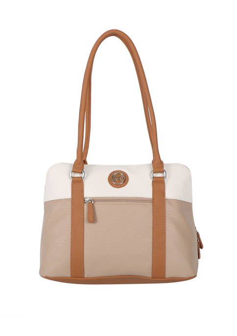 Kim Rogers® Color Block Domed Satchel