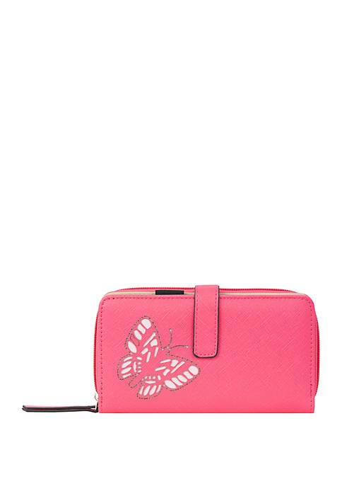 Kim Rogers® Flutter Checkbook Wallet with Tab