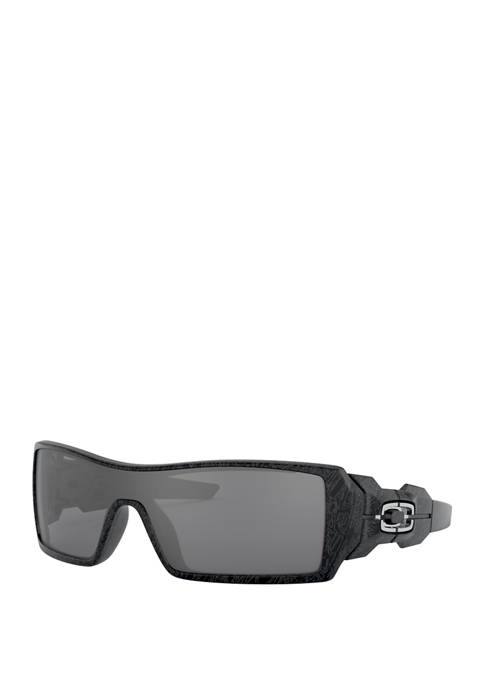 Oakley Oil Rig Polished Black and Silver Ghost