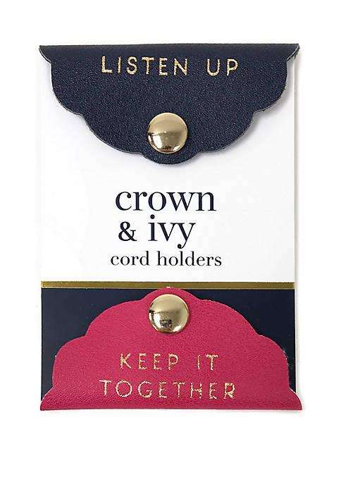 Crown & Ivy™ Cord Holders