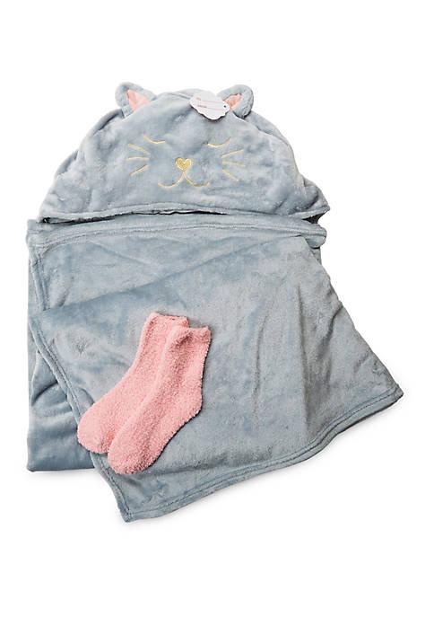 Hooded Cat Blanket and Socks