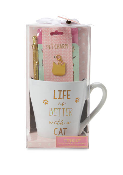 New Directions® Cat Mug and Stationery Gift Set