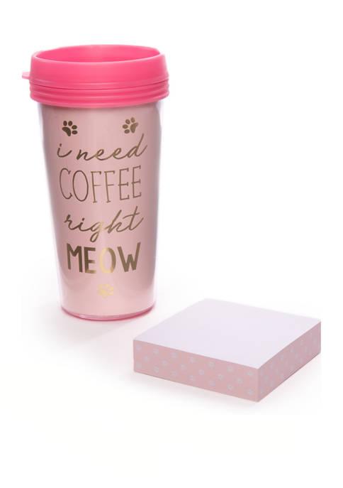 Cat Travel Mug Set