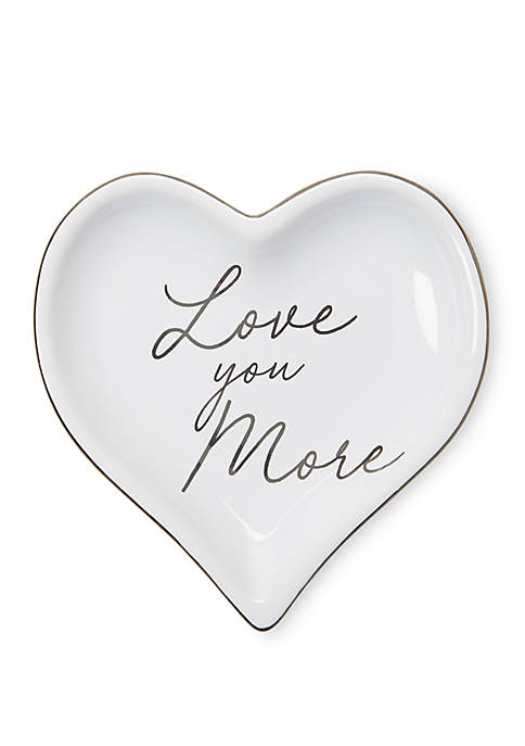 New Directions® Love You More Heart Trinket Tray