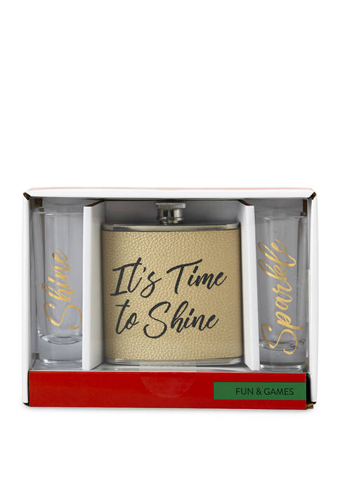 New Directions® Flask and Shot Glass Set
