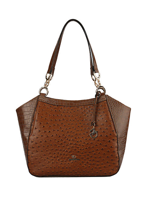 Roma Crocodile and Ostrich Shoulder Bag