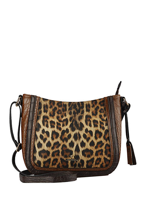 New Directions 174 Leopard Crossbody Bag Belk