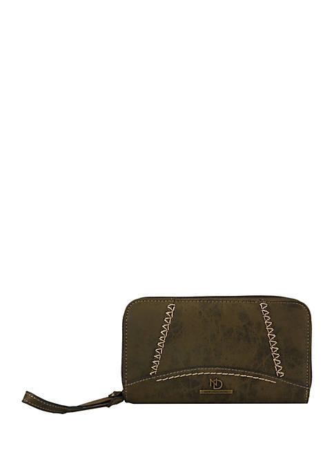 New Directions® Shara Double Zip Around Wristlet Wallet