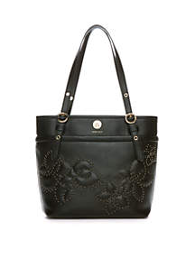 Quilted Stud Applique Small Tote