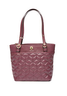 Quilted Geo Cube Small Tote