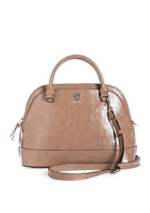 Triple Compartment Dome Satchel