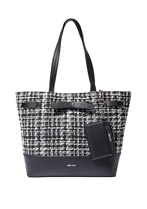 Boucle Triple Compartment Tote Bag and Cardholder Set