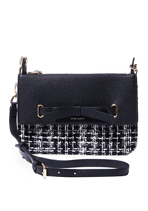 Anne Klein Boucle Top Zip Crossbody