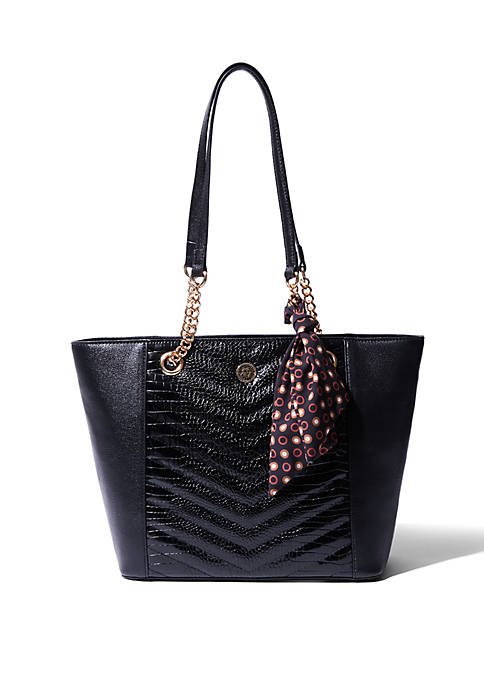 Anne Klein Crocodile Chain Tote