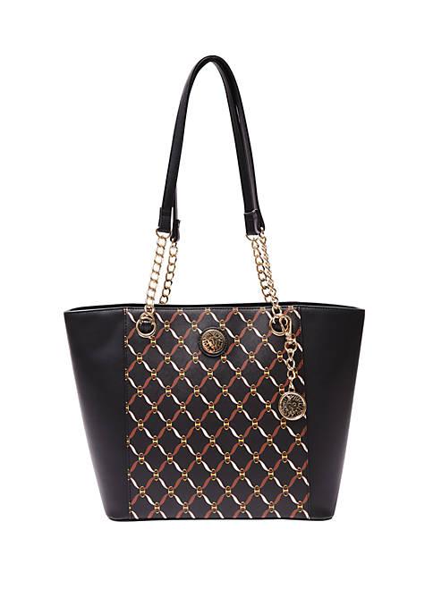 Anne Klein Chain Print Tote Bag