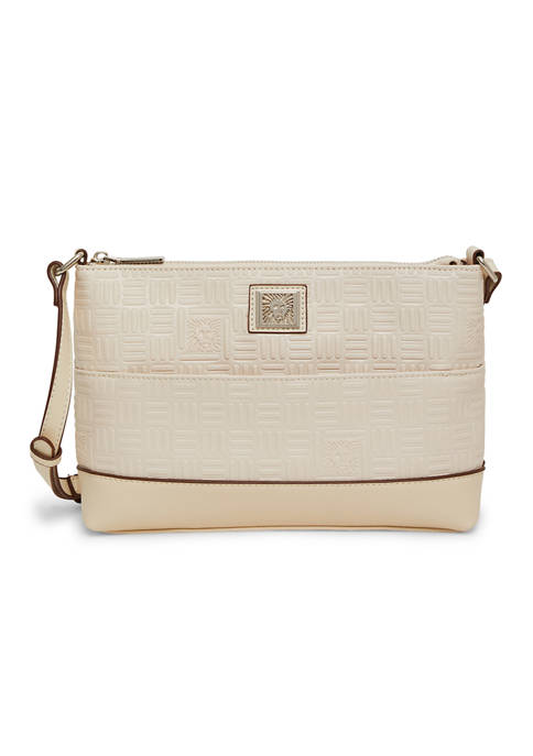 Anne Klein Embossed Crossbody with Pouch