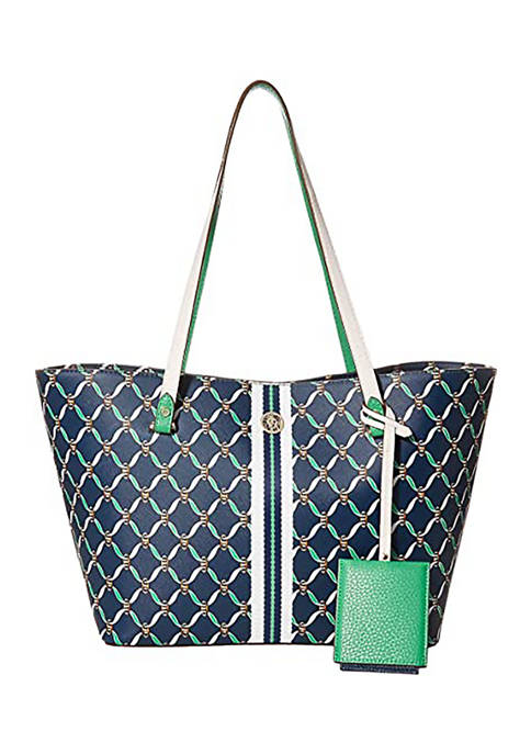Anne Klein Chain Print Carry All Tote
