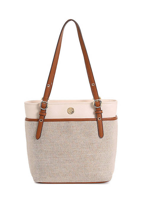 Metallic Canvas Pocket Tote