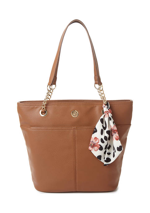 Anne Klein Bucket Tote with Chain